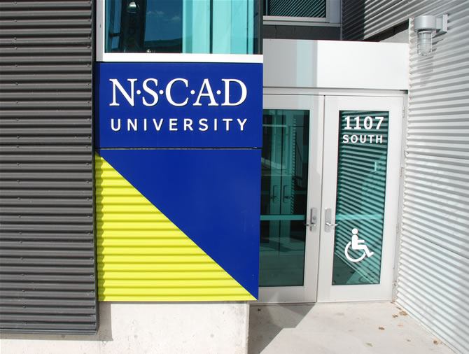 Wayfinding Signage Nscad University By Steven Slipp Design