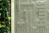NSCC Built environment wall and living wall