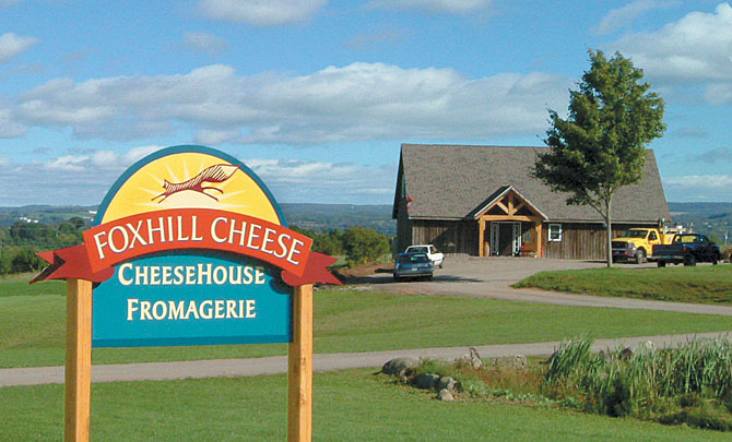 Sign in front of Foxhill Cheese House
