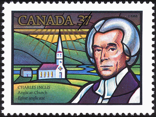 Canada commemorative postage stamp for Bishop Charles Inglis