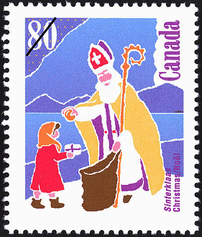 Canada Christmas stamp design