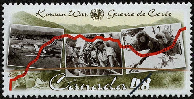 Canada commemorative stamp for the Korean War