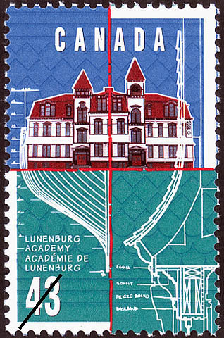 Canada commemorative stamp for Lunenburg Academy