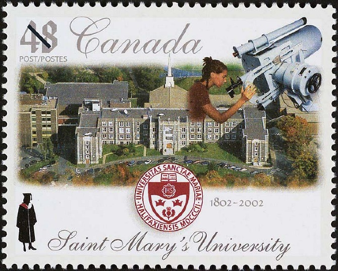 Canada commemorative stamp for St. Mary's University