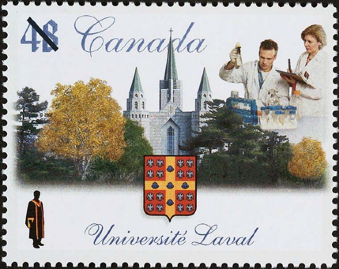 Canada commemorative stamp for Université Laval