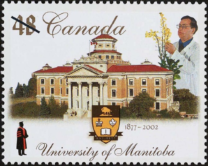 Canada commemorative stamp for University of Manitoba