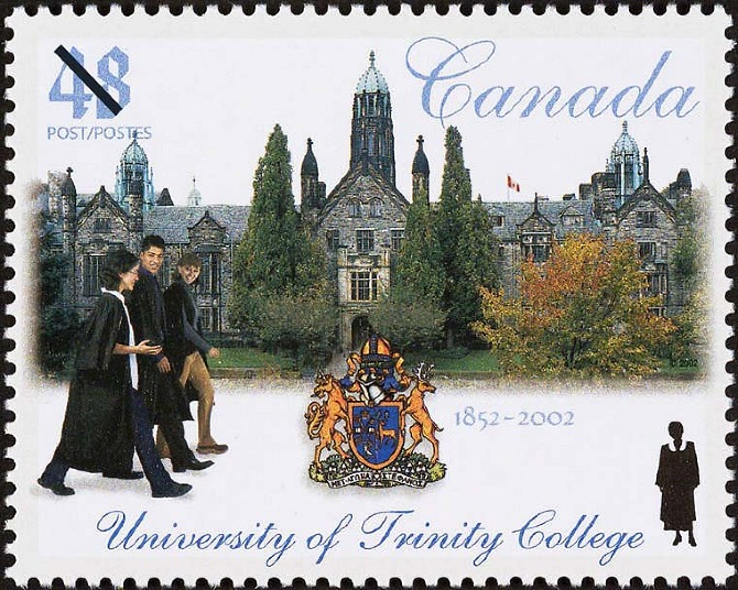 Canada commemorative stamp for University of Trinity College