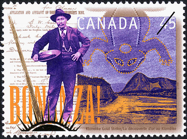 postage stamp design  klondike gold rush series by steven
