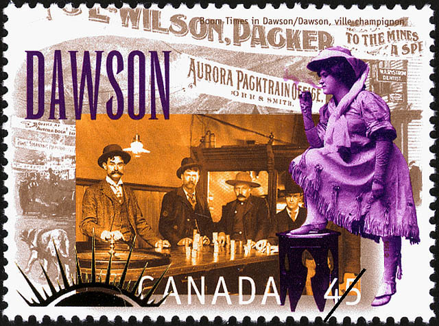Canada postage stamp: Boom Times in Dawson