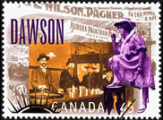 Klondike Gold Rush series postage stamp